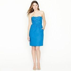NWT J.Crew Collection SAMANTHA DRESS TAFFETA Blue